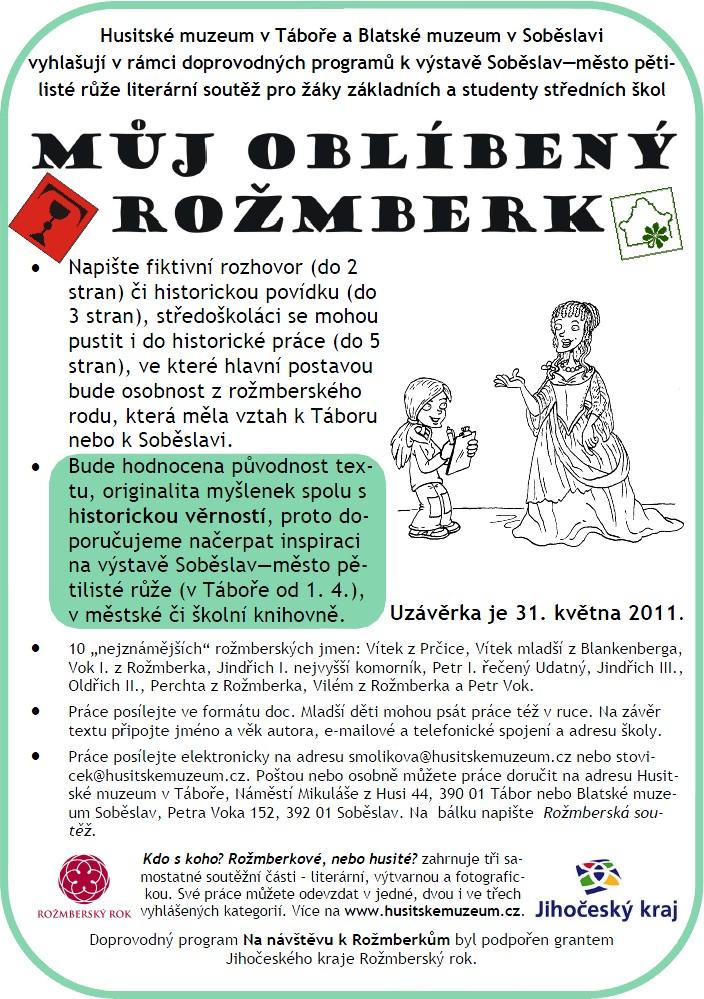 Plakát k soutěži Můj oblíbený Rožmberk