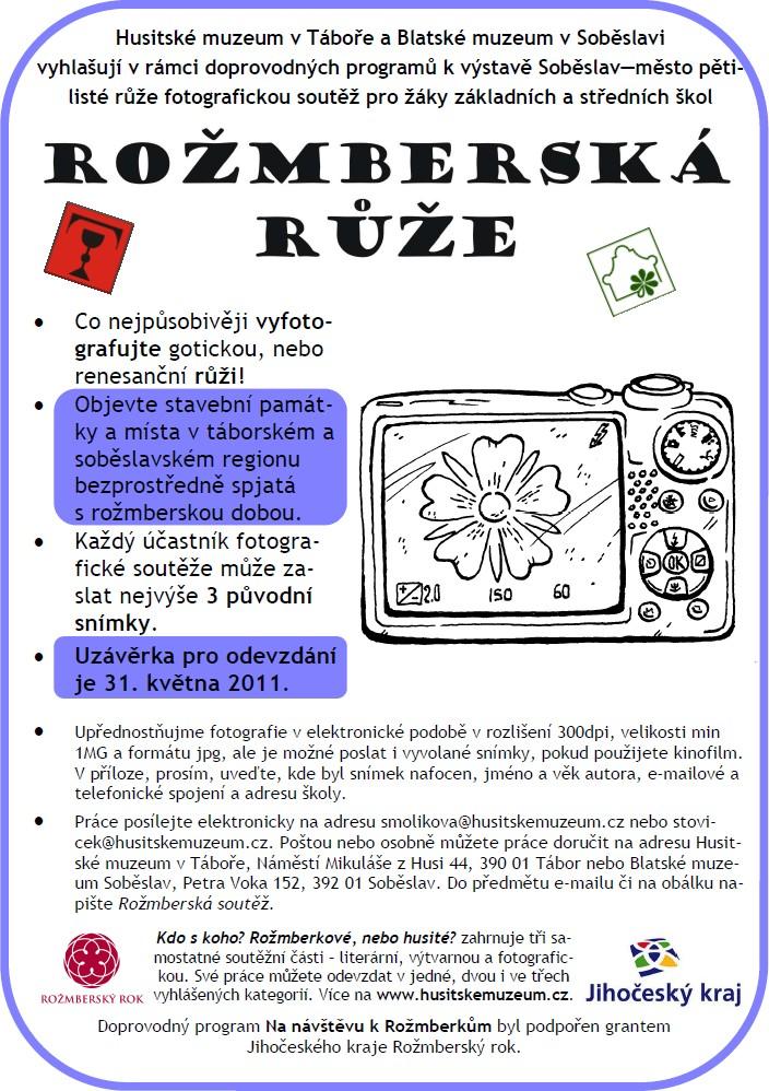 Plakát k soutěži Rožmberská růže