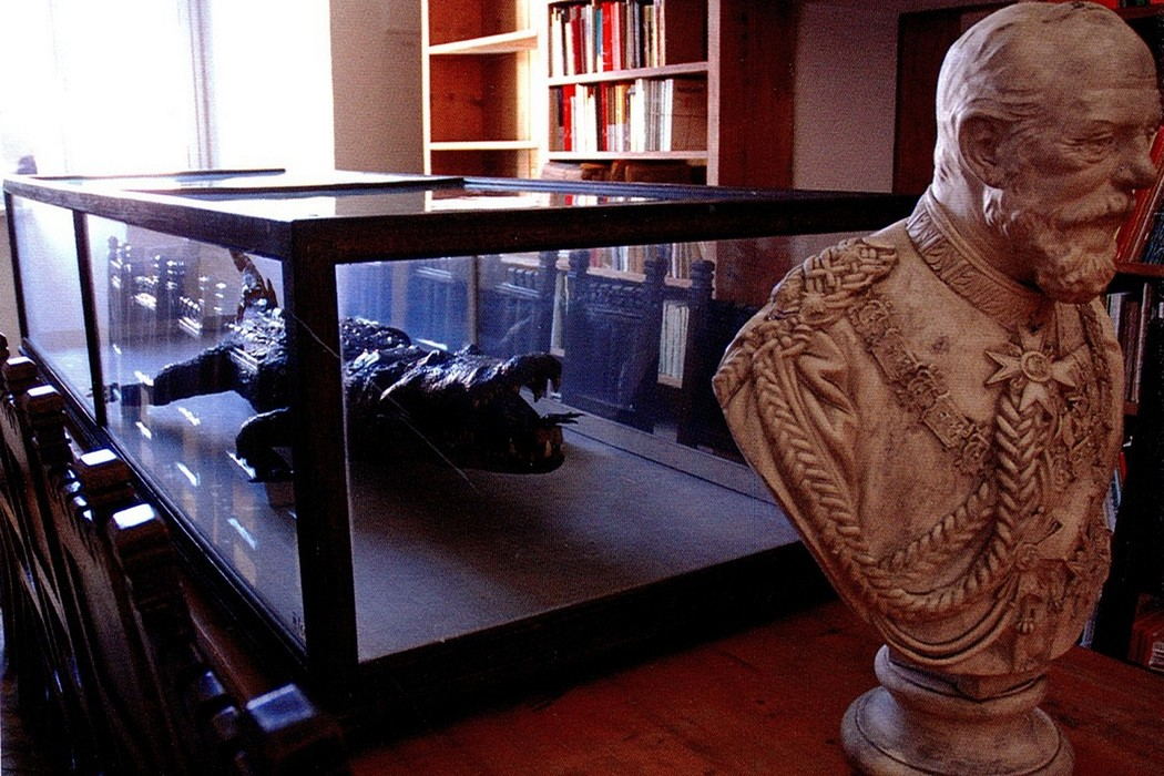 Krokodýl v pasovské jezuitské knihovně