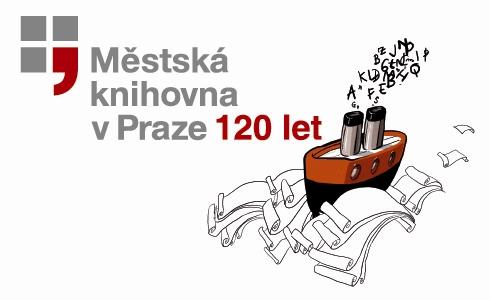 Parník je ústředním vizuálním prvkem 120. výročí Městské knihovny v Praze