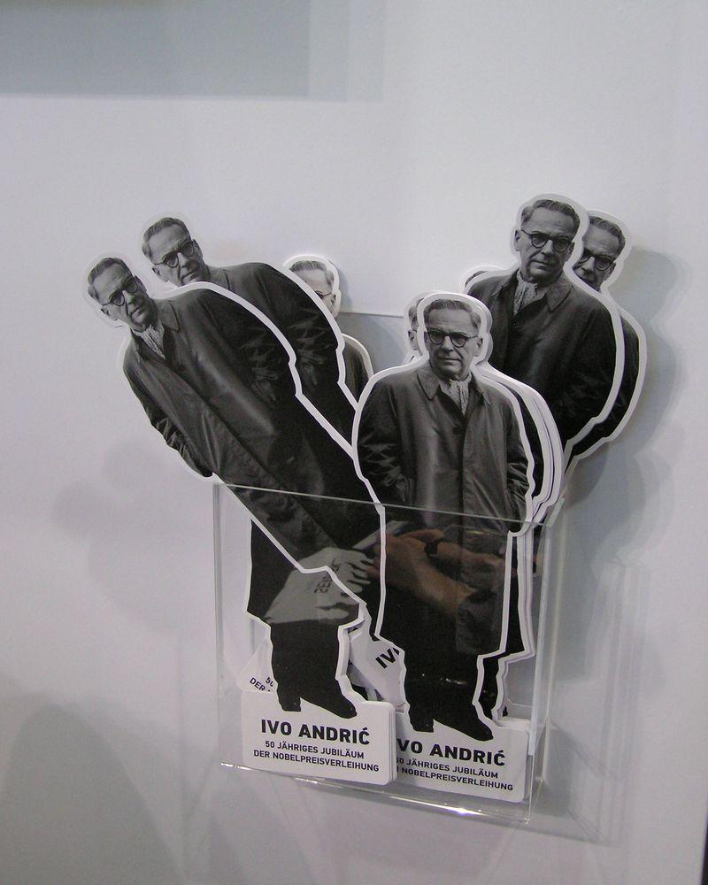 Významný srbský prozaik Ivo Andrić byl centrální postavou srbské expozice