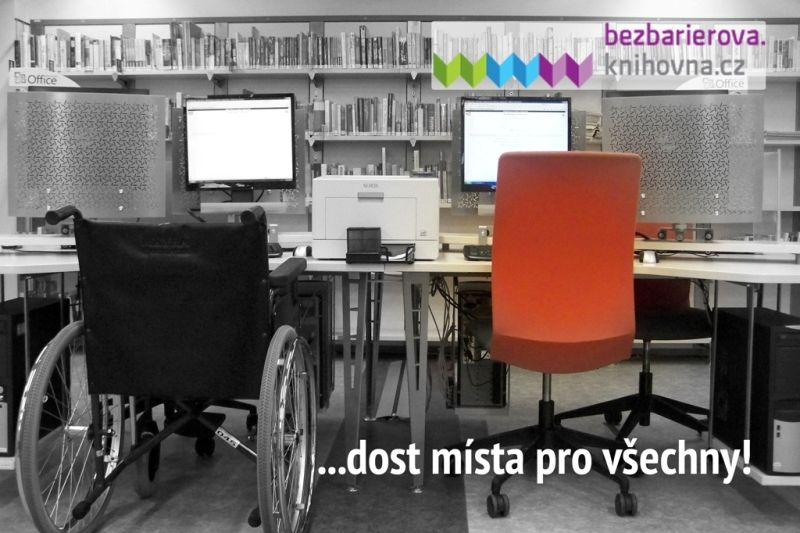 Obr. 1: Bezbariérová.knihovna.cz - dost místa pro všechny