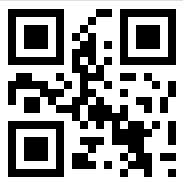 Příklad QR kódu. Zakódovaným textem je Ikaros