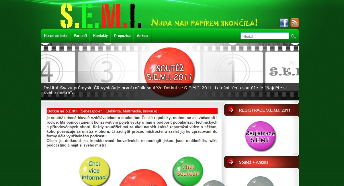 Webové stránky soutěže Dotkni se SEMI
