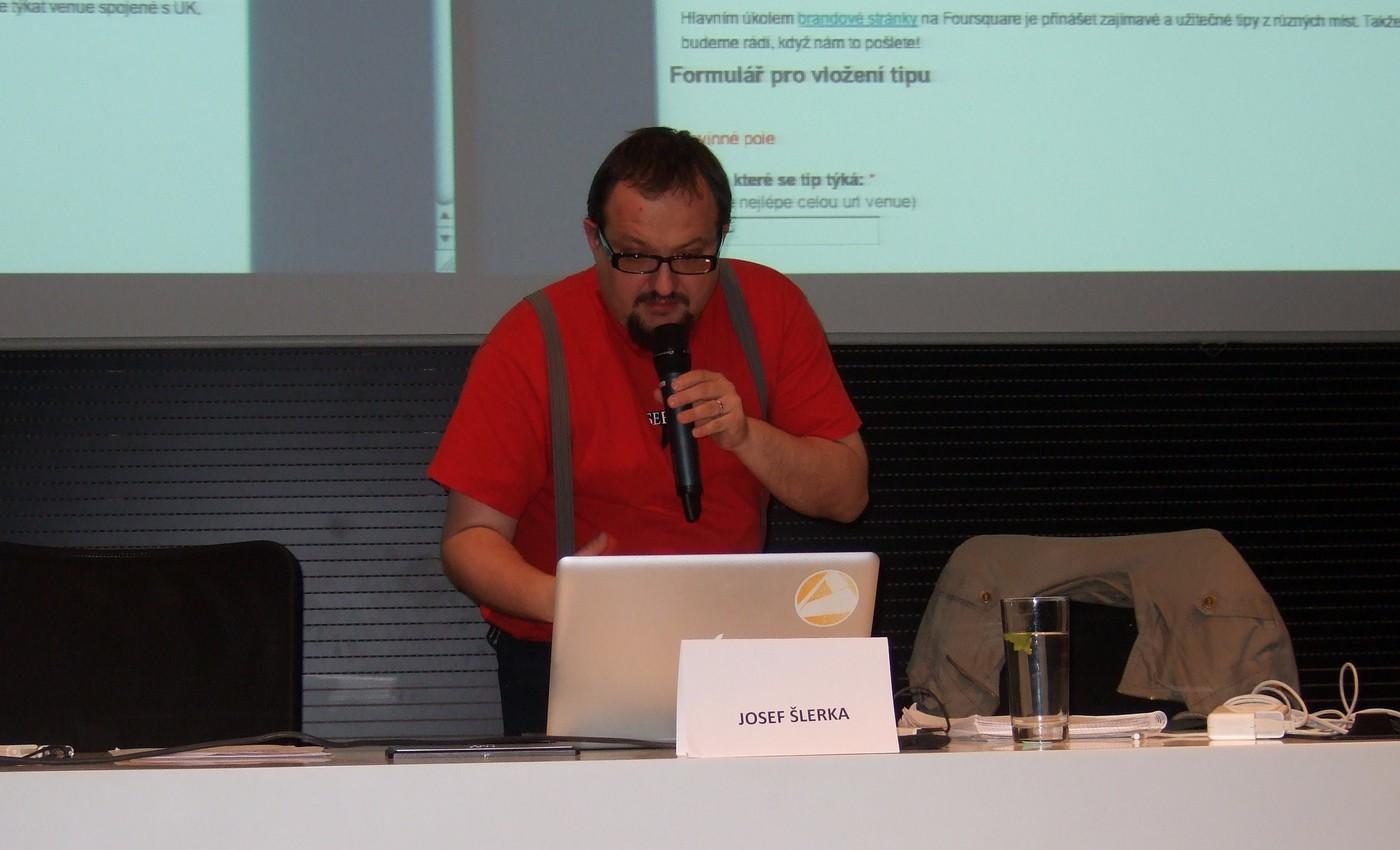 Přednáška Josefa Šlerky o geolokačních službách
