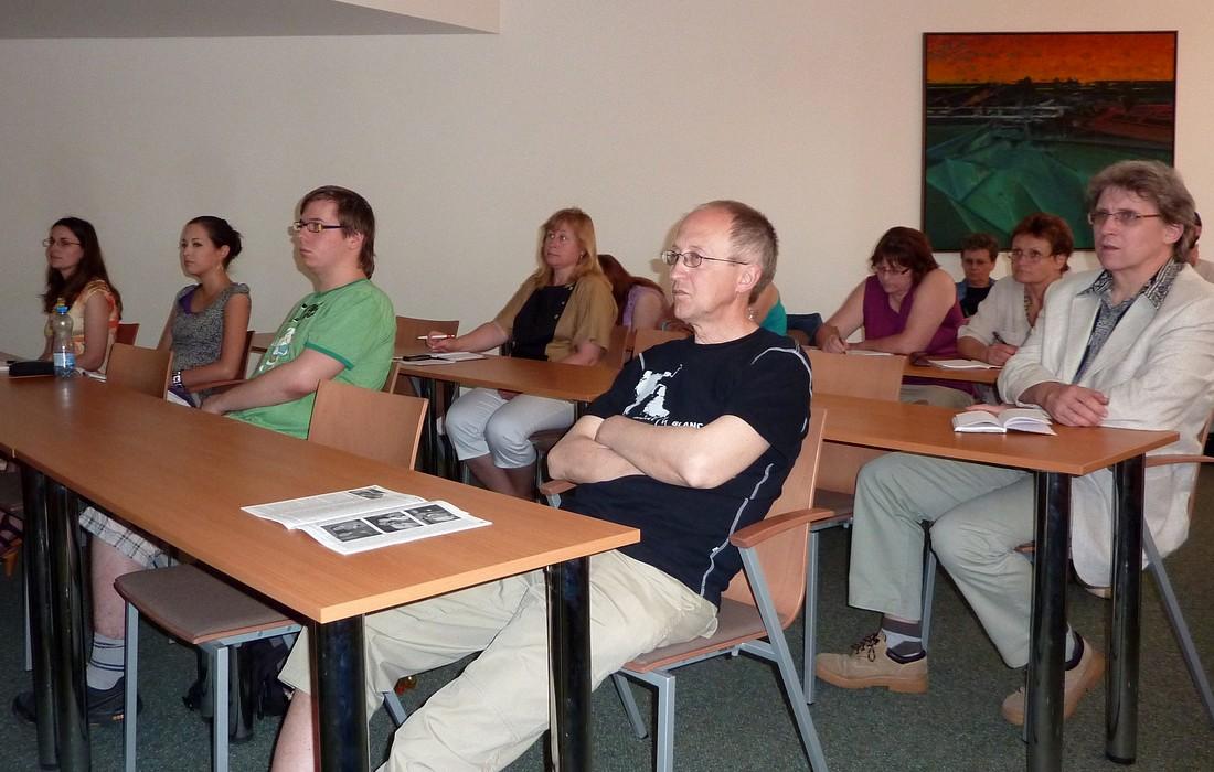 Účastníci komixového semináře