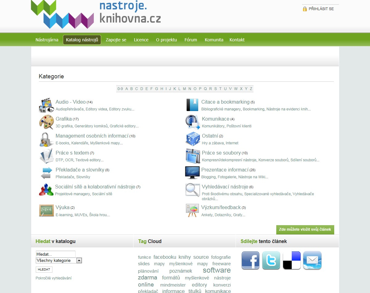 Katalog nástrojů