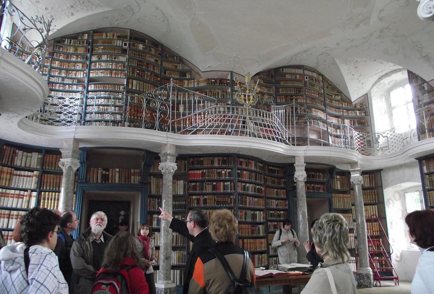 Klášterní knihovna v Einsiedelnu