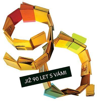 Logo k 90. výročí Knihovny Jiřího Mahena v Brně