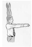 Obr. 3: Protažení zádových svalů