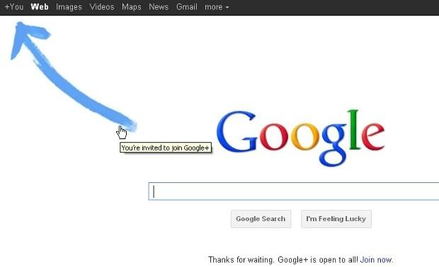 Zvýraznění nové záložky na hlavní stránce Google