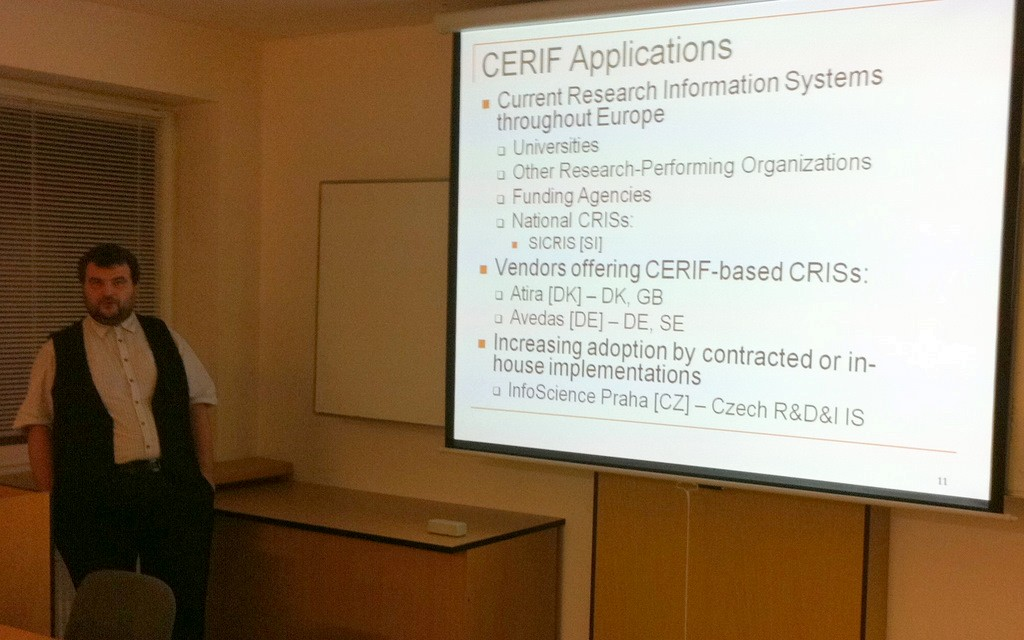Jan Dvořák se zamyslel nad použitím standardu CERIF v bibliometrii