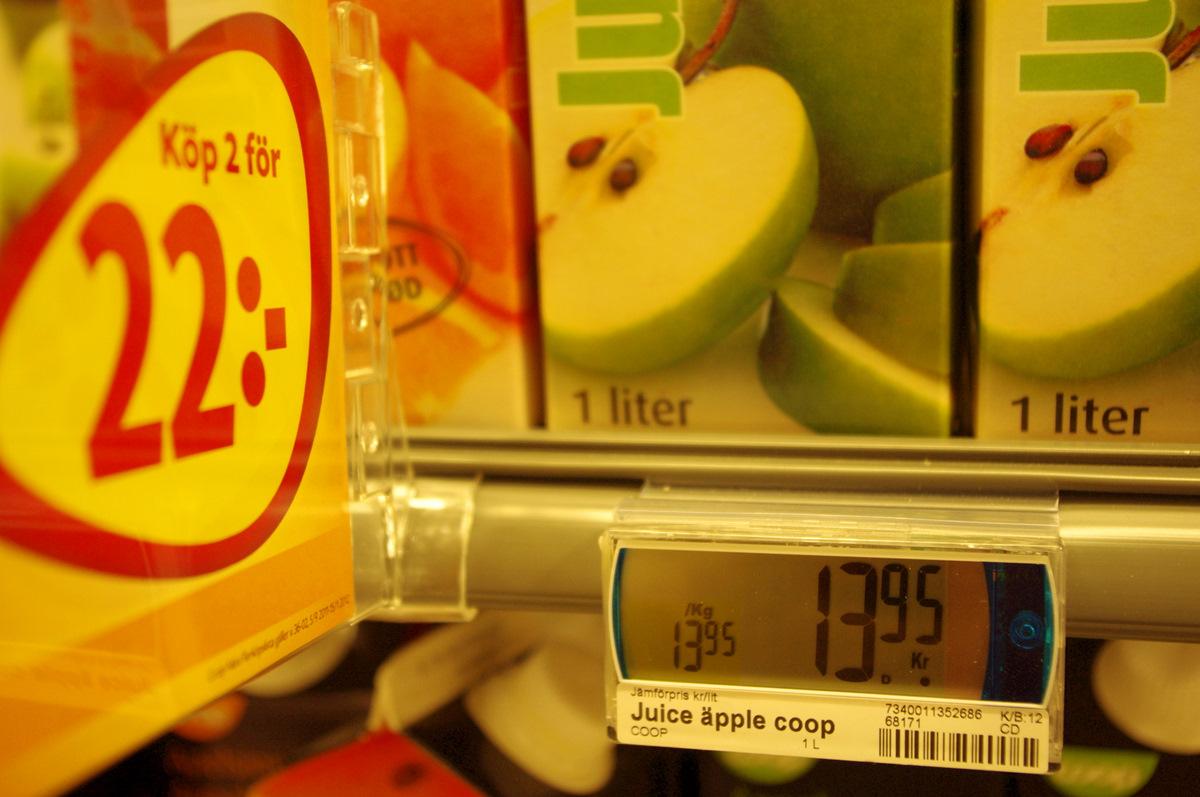 Nový způsob nakupování prokázal i skryté tužby obyvatelstva. Po zavedení prvků nových médií do prodejen v projektu zapojených stoupla spotřeba jablečného džusu ve Švédsku o 117 %. Možným vysvětlením je, že u této položky se cena vesměs pohybuje směrem dolů. 13,95 švédských korun za litr džusu je poměrně málo. Ztrátu však obchodníci vyrovnávají u jiných položek, např. hovězího masa nebo makových rohlíčků