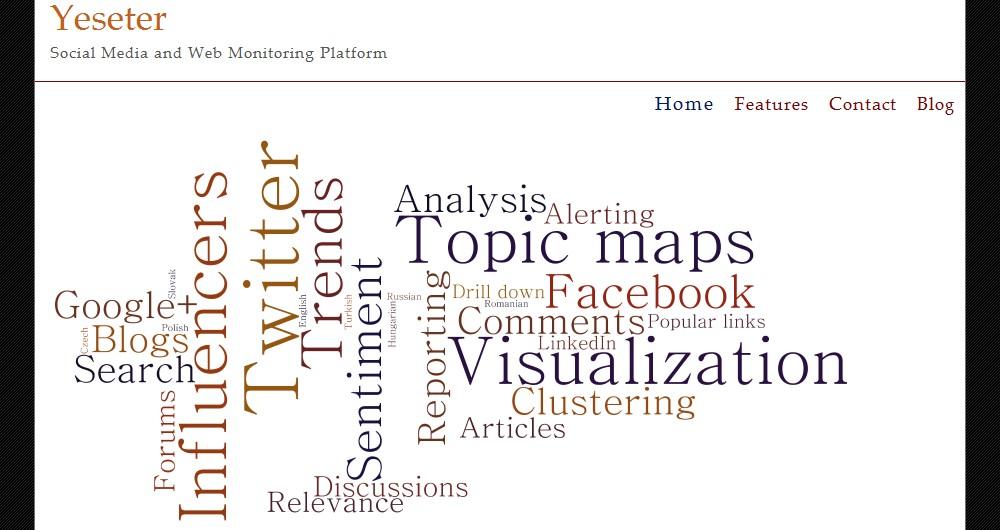 Webová stránka systému Yeseter