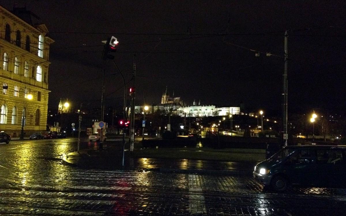 Noční Praha po skončení konference NMI 2012