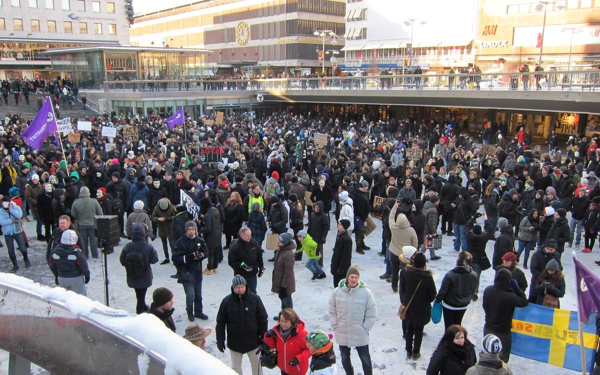Demonstrace ve Stockholmu