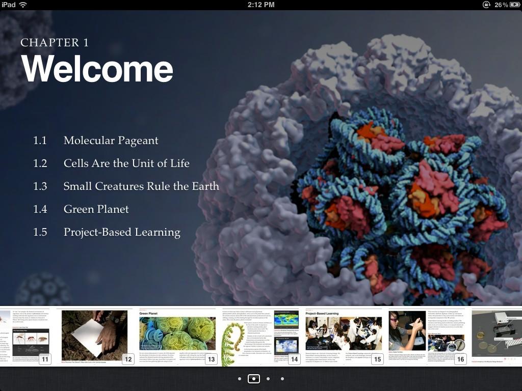 Ukázka multimediální interaktivní knihy vytvořené v programu iBooks Author