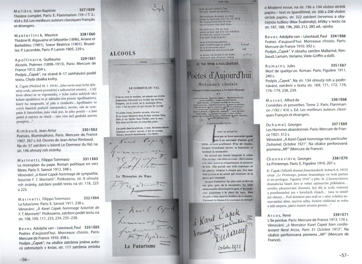 Publikace veřejnosti velmi podrobně přibližuje knihy Čapkem vlastněné, zachycuje jejich stav, odkrývá četné poznámky a věnování