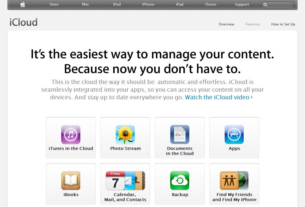 Informace o službě iCloud: snadné zálohování a sdílení fotografií, dokumentů, hudby, aplikací, kontaktů, knih, poznámek a kalendářů