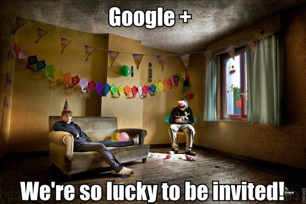"""Jeden z mnoha internetových memů parodujících Google+ a jeho """"vylidněnou"""" povahu"""