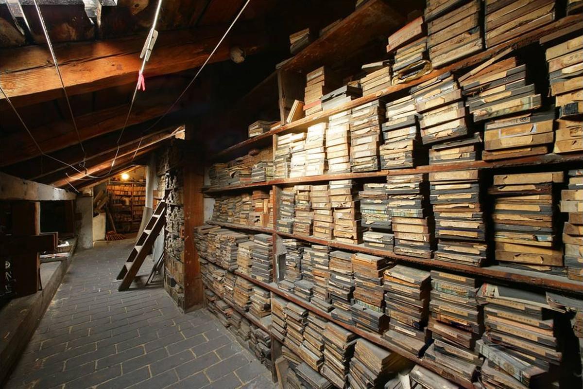 Archiv v původním stavu před digitalizací