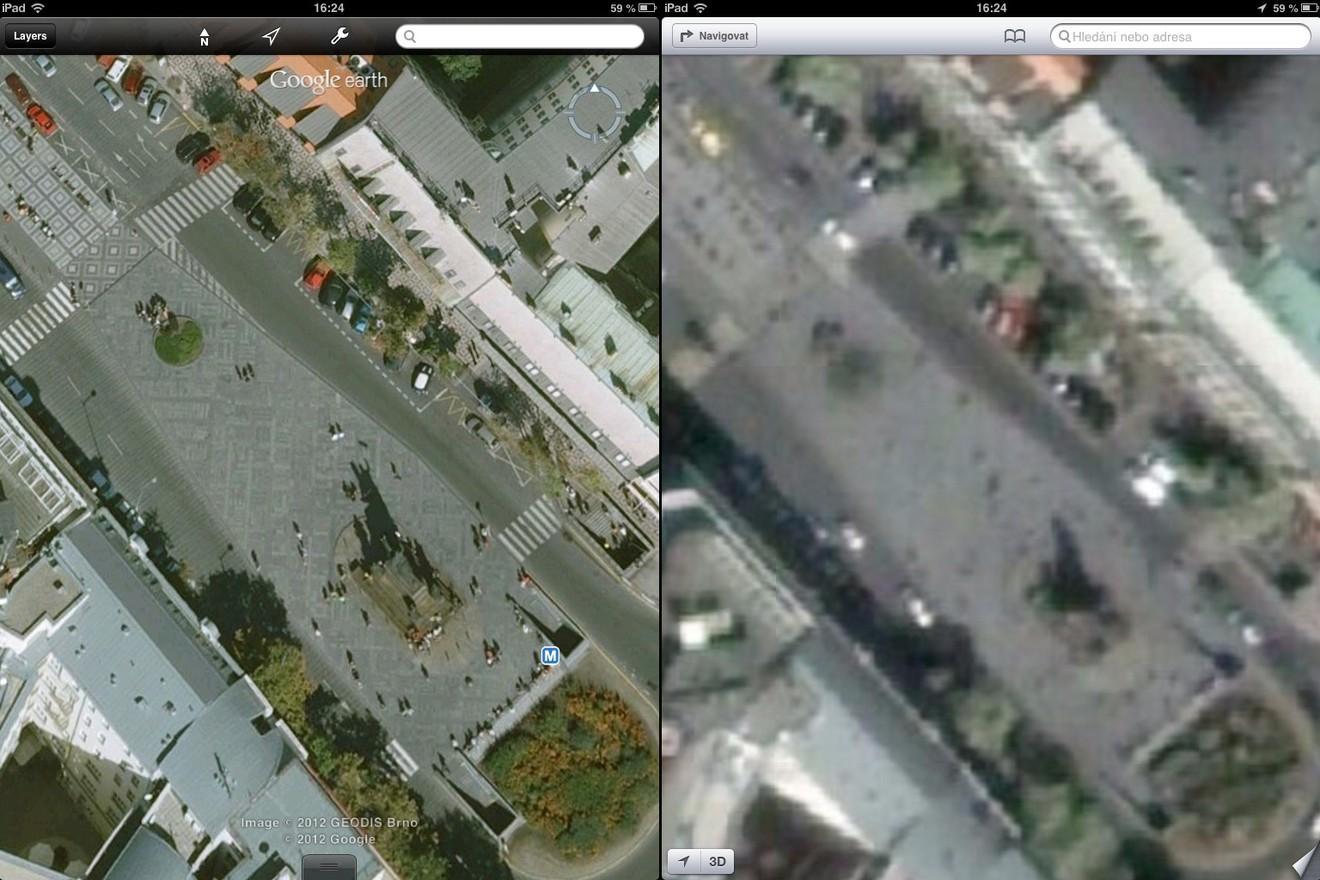 Srovnání map: Václavské náměstí