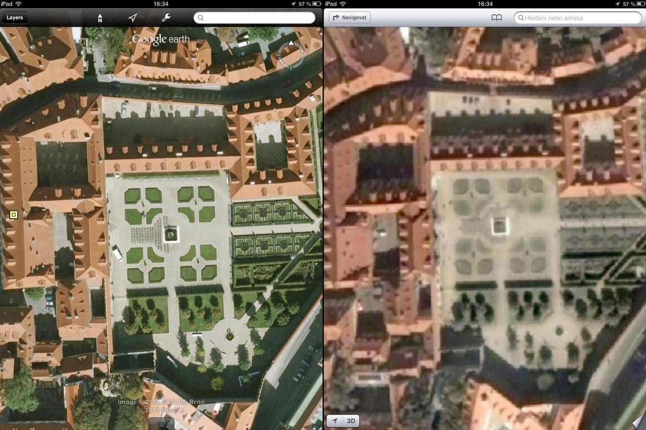 Srovnání map: Valdštejnská zahrada