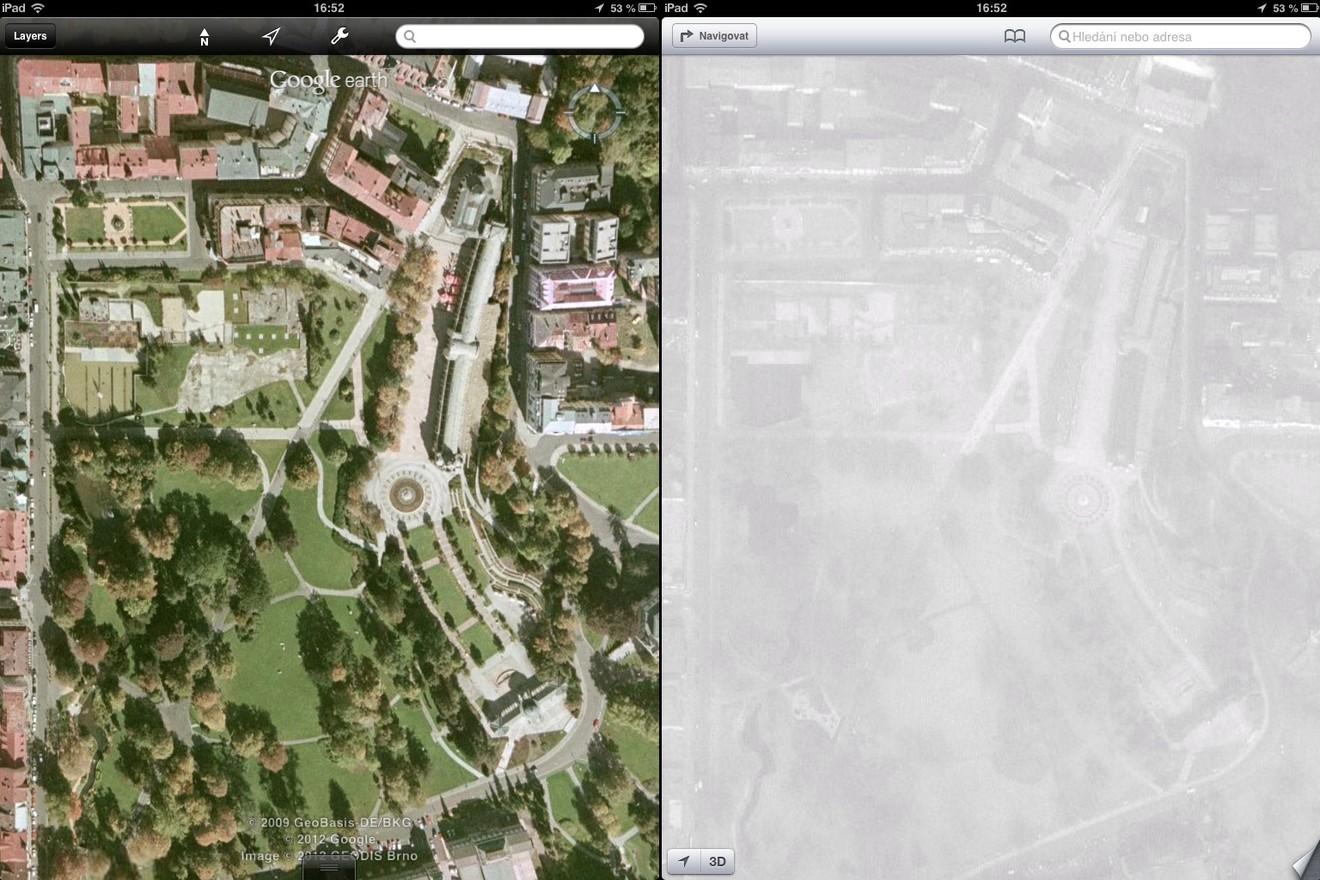 Srovnání map: Mariánské Lázně