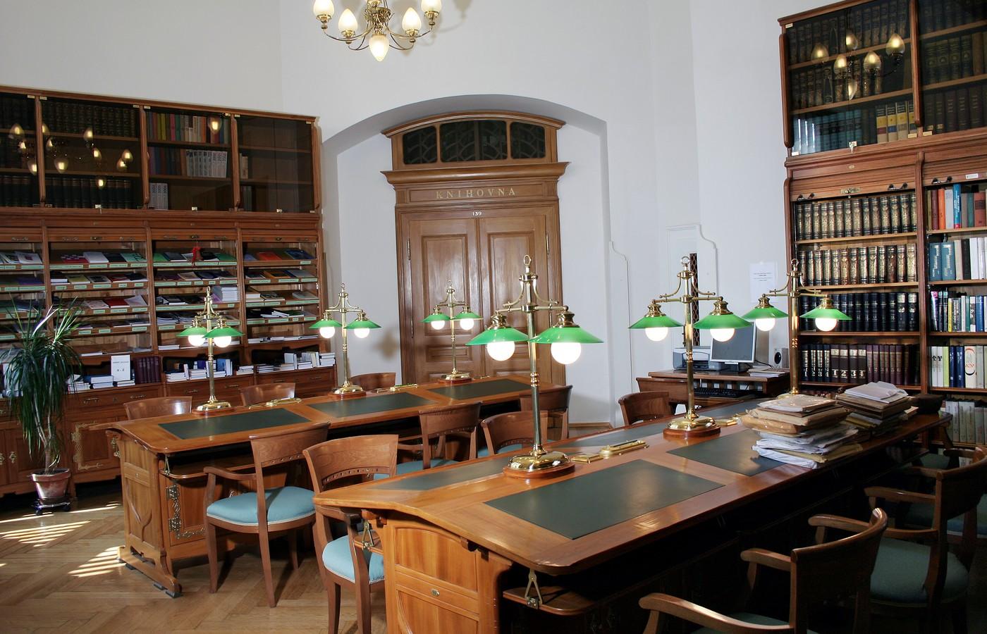 Knihovna Západočeského muzea – studovna pro čtenáře KKB