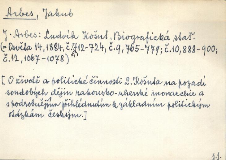 Originál skenu excerpčního lístku