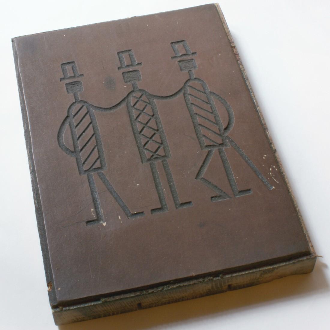 Linorytový štoček pro obálku