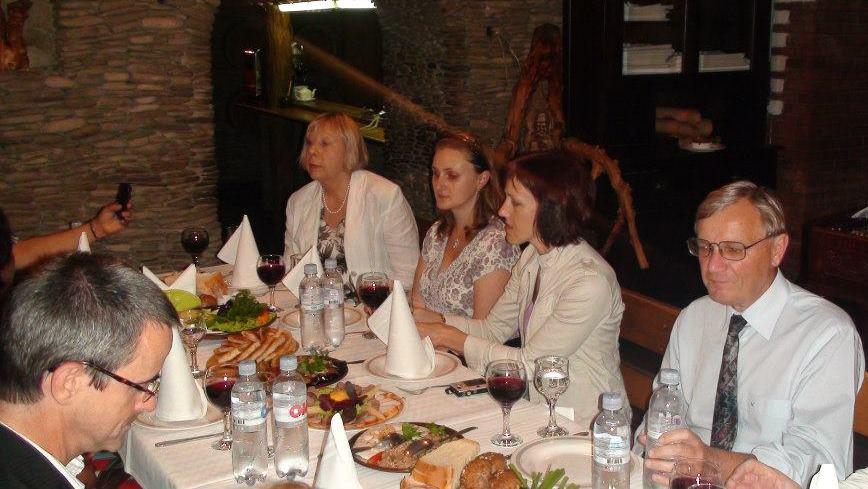 Slavnostní večeře na závěr zasedání ISMN v restauraci La Taifas