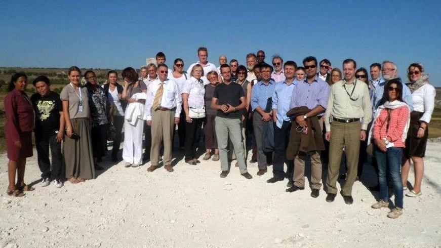 Účastníci zasedání ISBN a ISMN na výletě do Staré Orhei