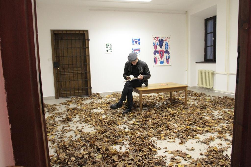 Výstava v listí a v betonu