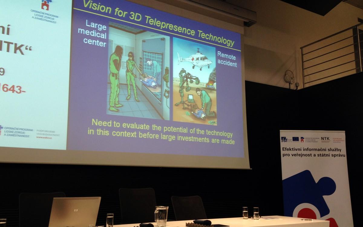 Ukázka z prezentace D. Sonnenwald ilustrující 3D snímání v terénu