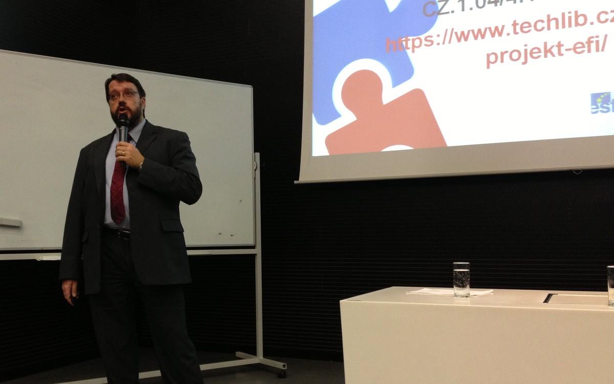 Tomáš Řehák hovořil o metodikách zpracování ROI analýzy i o situaci v Městské knihovně v Praze