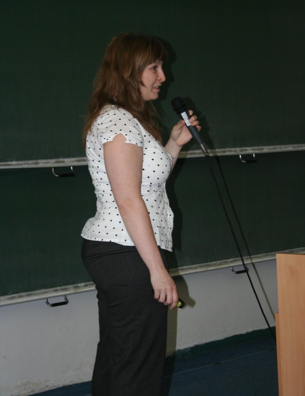 Přednáška o Open Access v podání Ivy Burešové