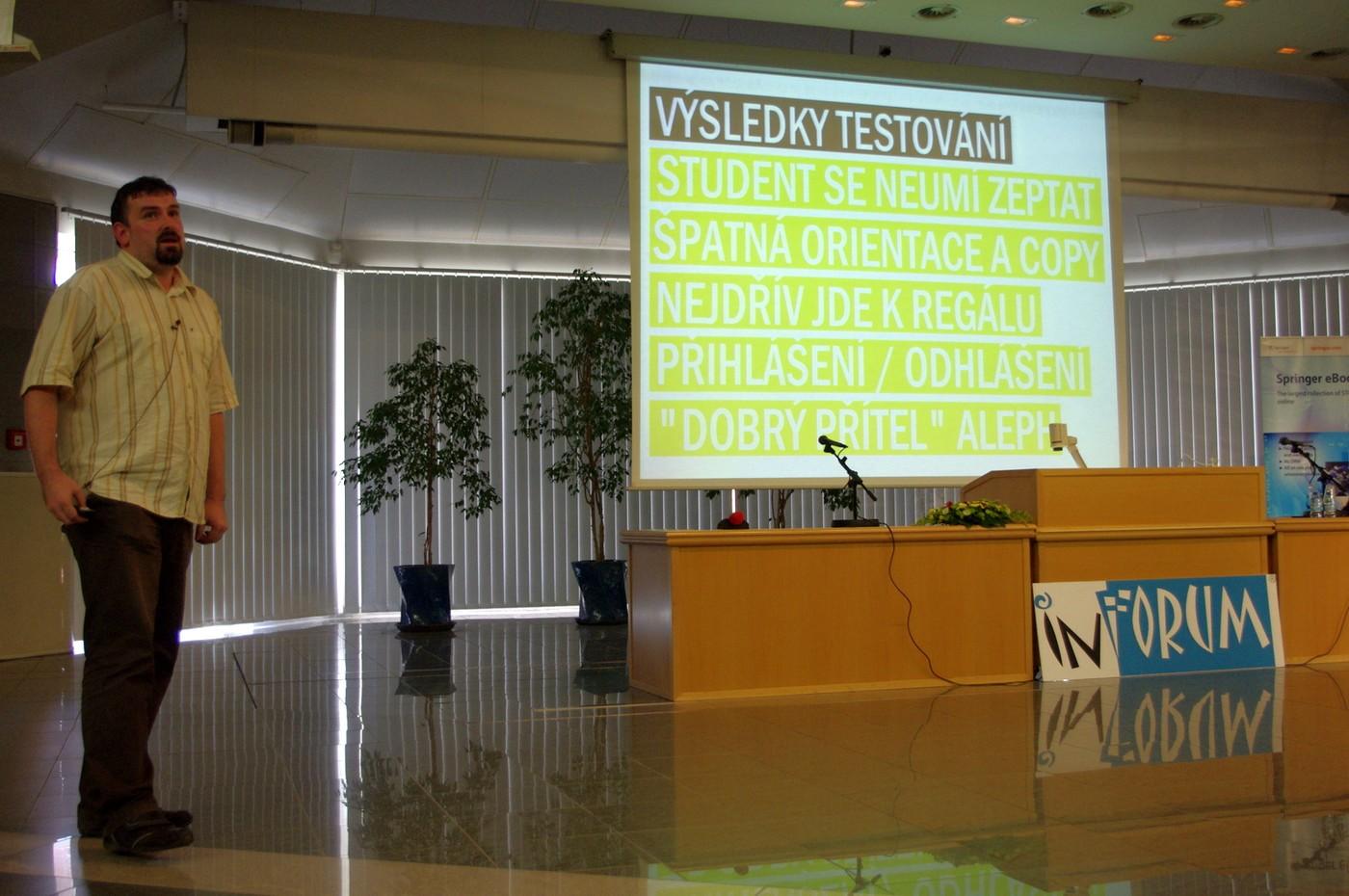 Ondřej Fabián hovoří o výsledcích testování použitelnosti knihovny