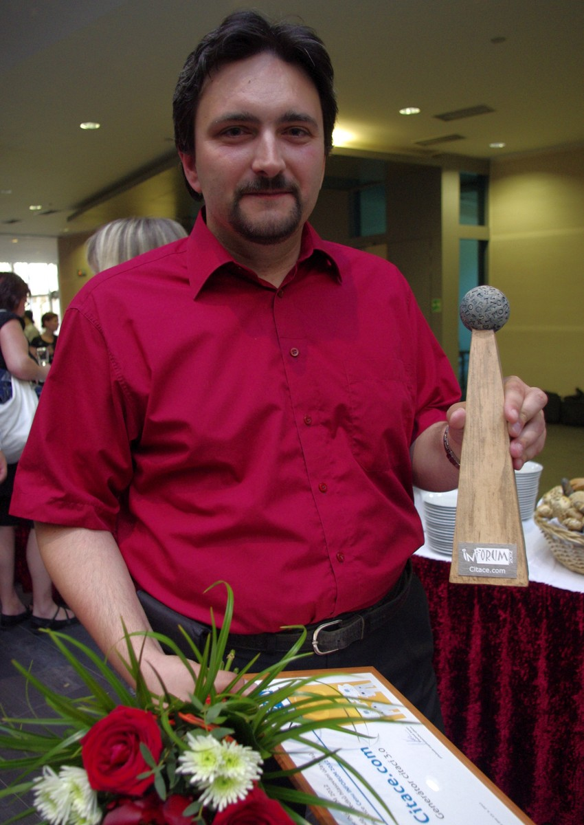 Martin Krčál s Cenou INFORUM 2012