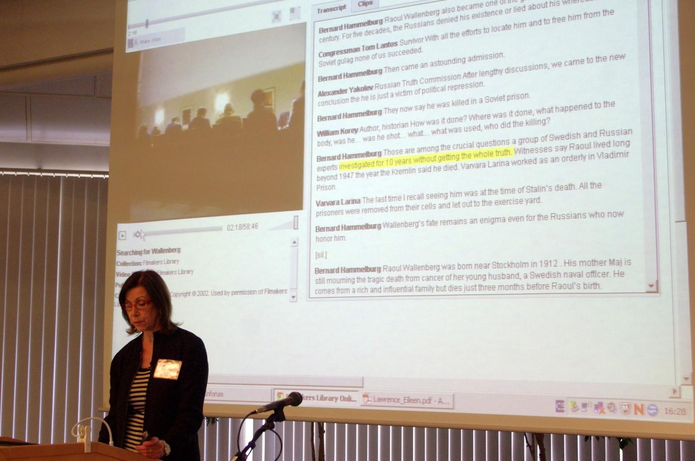 Eileen Lawrence hovoří o textovém přepisu videa a jeho možnostech pro vyhledávání