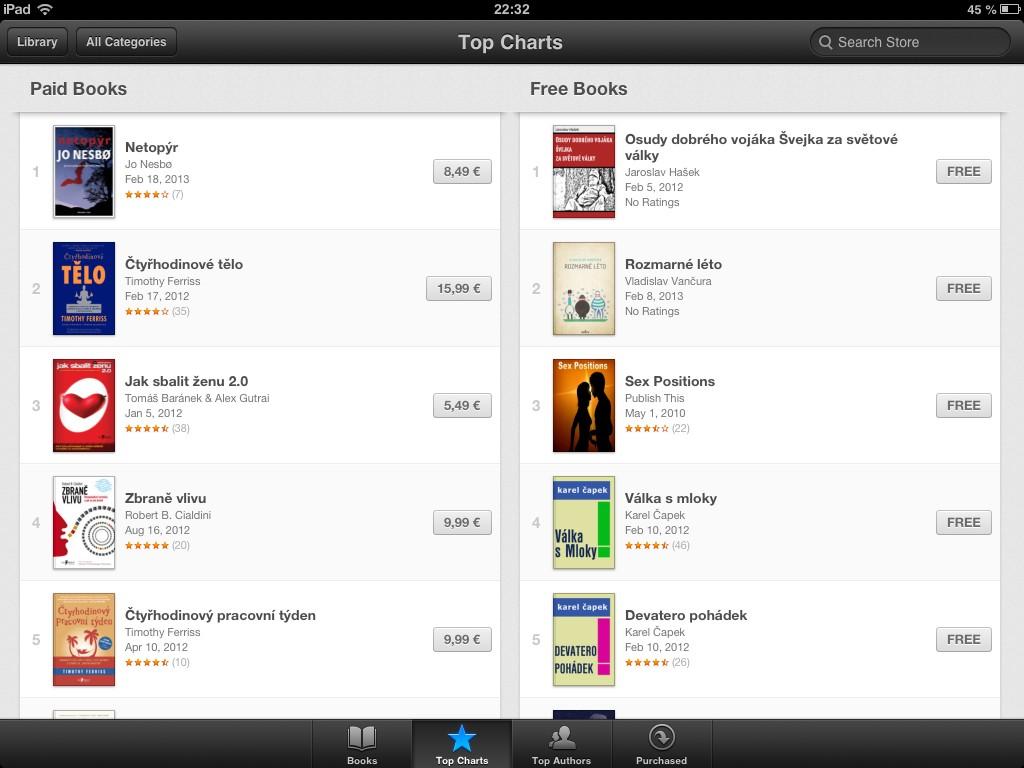 Aplikace iBooks