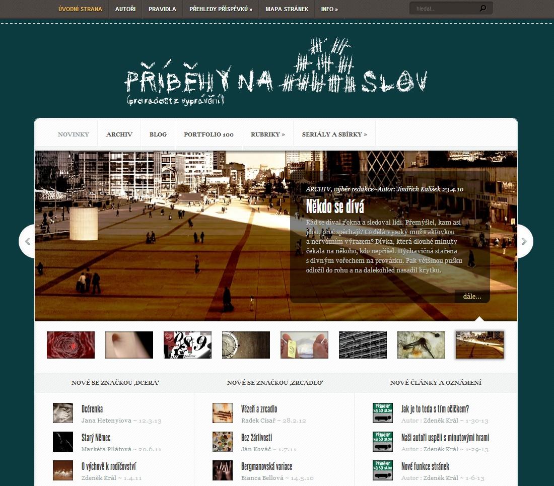 Homepage Příběhů na padesát slov