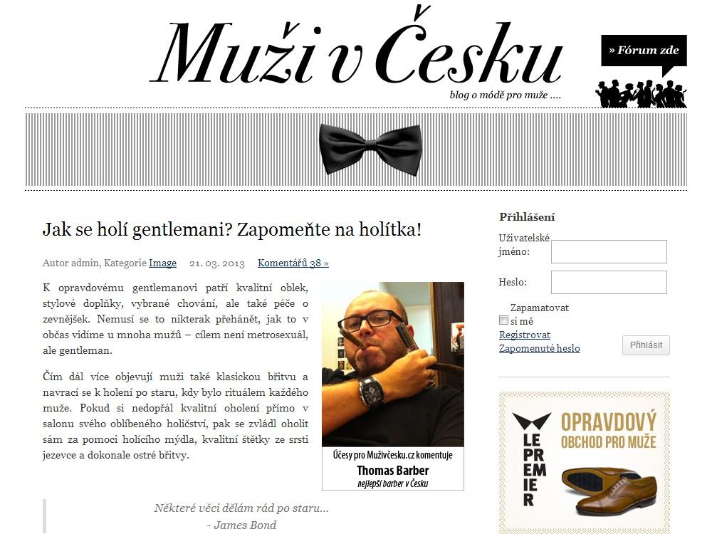 Blog Muži v Česku