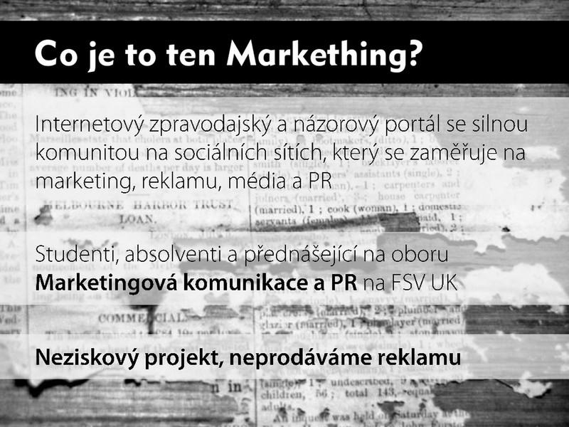 Prezentace serveru Markething