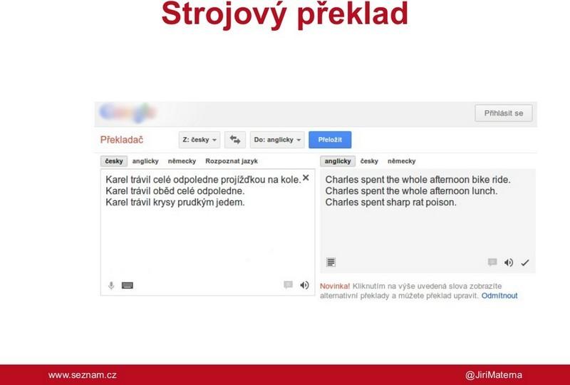 Prezentace Jiřího Materny
