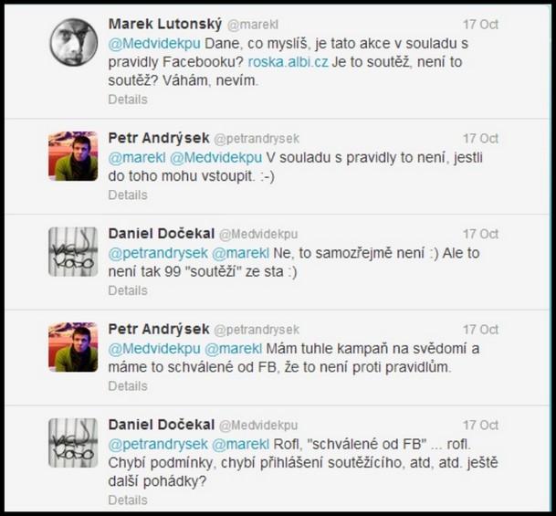 Diskuse s Danielem Dočekalem na Twitteru
