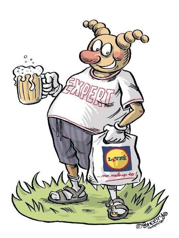 Karikatura s broukem Pytlíkem od Shootyho