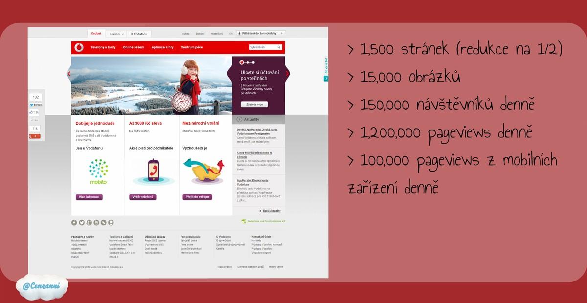 Prezentace o redesignu webu Vodafonu