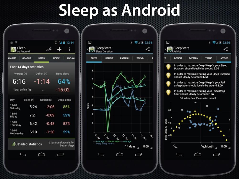 Aplikace Sleep as Android