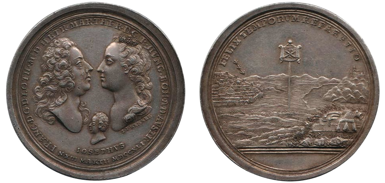 Medaile k narození arcivévody Josefa II